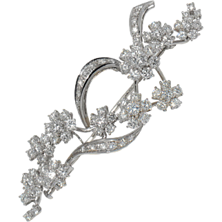 Massoni 1970s Diamond Brooch