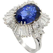 Massoni 1960s Sapphire and Diamond Ring