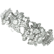 Italian Diamond and White Gold Bracelet