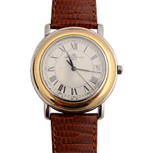Baume & Mercier Stainless Steel and Gilt Wristwatch with Date