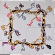 Gucci Print Silk Scarf