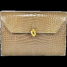 Vintage Helene Arpels Alligator Clutch Bag