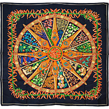 "Hermes ""Aux Pays Des Epices"" Chilli Peppers Silk Scarf"