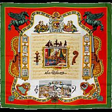 """Hermes """"Salzburg"""" Silk Scarf"""