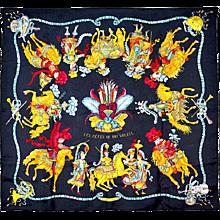 Hermes Les Fetes Du Roi Soleil Silk Scarf