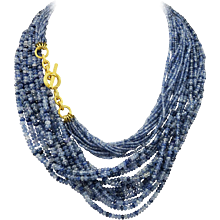 Virginia Witbeck Natural Sapphire Gold Multistrand Necklace