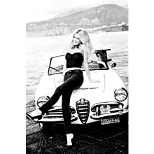 Ellen von Unwerth - Claudia Schiffer with Car