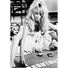 Douglas Kirkland - Brigitte Bardot playing Cards