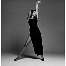 Michel Comte - Helena Christensen Black Dress