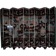 Exquisite 18th Century Kangxi Dynasty Coromandel 12 Panel Screen
