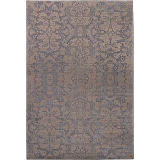 Traditional 'Penelope' Wool and Silk Area Rug