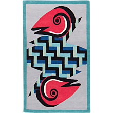 Alessandro Mendini Collaboration 'Rasuwa' Wool Small Area Rug