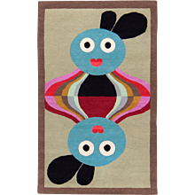 Alessandro Mendini Collaboration 'Gorka' Wool Small Area Rug
