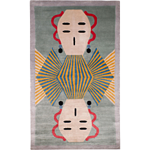Alessandro Mendini Collaboration 'Dhading' Silk Small Area Rug