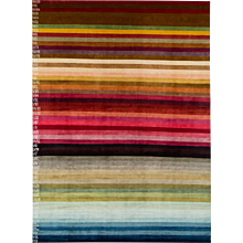 Natural Striped 'Color Spectrum' Silk Area Rug