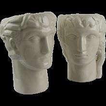 Geza DeVegh Art Deco Ceramic Head Vases