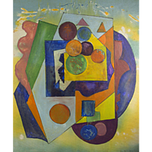 Joseph Meierhans Modernist Geometric Abstract - Bucks County PA