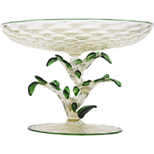 Murano Floral Compote - Early 20th Century