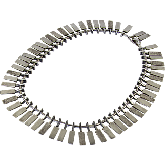 Ibe Dahlquist Modernist Sterling Necklace - Sweden - 1965