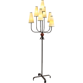"Jean Royere ""hirondelle"" floor lamp"
