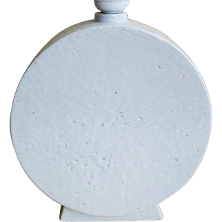A round white Chamotte Table Lamp by Gunnar Nylund, Sweden, 1950s