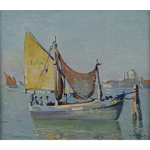 Fishing Boat in the Venice Lagoon