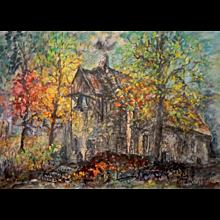 Janum, village church in Friesland