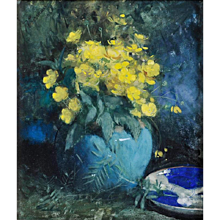 Buttercups in a green jar, February 1890
