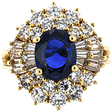 Diamond and Sapphire Ballerina Ring