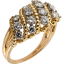 Oscar Heyman Estate Diamond  Cluster Ring