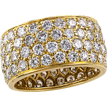 Van Cleef and Arpels Estate Wide Diamond Eternity Ring