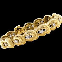 French 18 Karat Gold And Diamond Bracelet By Wander