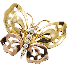 Articulated and Handcrafted Retro Butterfly Brooch