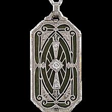 1920s Art Deco Vinaigrette Pendant
