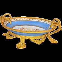 Napoleon III Sevres Mounted in Bronze Dore