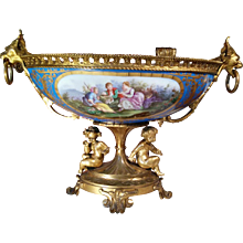 Sèvres and Bronze cup