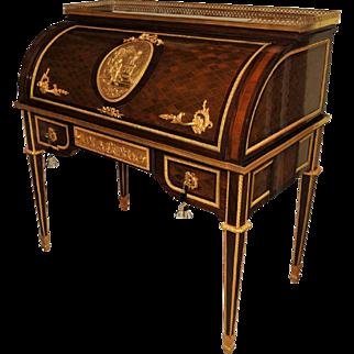 Louis XVI-style Bureau cylindre