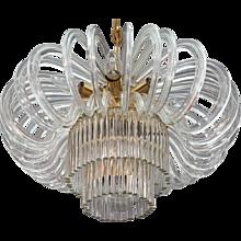 Huge Bakalowits Crystal Glass Chandelier, Vienna, 1960