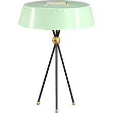 Charming Tripod Table Lamp Attributed Arredoluce, Italy, 1950
