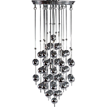 Charming Verner Panton Metallic Ball Chandelier
