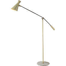 Enameled Floorlamp in the style of Arredoluce, Italy, 1950
