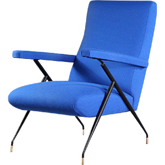 Italien Lounge Chair Attributed Ico Parisi, 1960