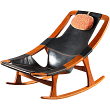 Scandinavian Rocking Chair Holmenkolm by Arne Tidemand Ruud