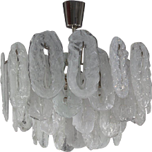 Italian Mid-Century Murano Glass Chandelier by Vistosi