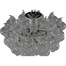 Pair of Crystal Glass Chandelier Tulipan Designed J.T.Kalmar, Austria
