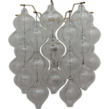 "Pair of Crystal Glass ""Tulipan"" Wall Sconces by J.T. Kalmar, 1960"