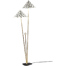 Twin Shade Floorlamp Designed Rupert Nikoll Vienna, 1950