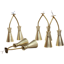 set of four Double Arm Wall Sconce by J.T. Kalmar, 1950s