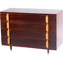 Mid-Century Four-Drawer Commode, Italy, 1950