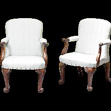 Pair of Mahogany Armchairs
